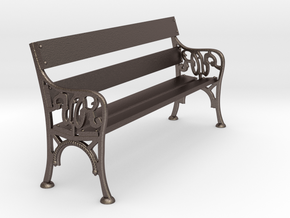 Victorian Railways Bench Seat 1:19 Scale in Polished Bronzed Silver Steel