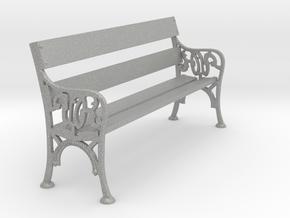 Victorian Railways Bench Seat 1:19 Scale in Aluminum