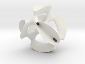 Smoothed Kummer Quartic (a K3), museum size in White Natural Versatile Plastic: Medium