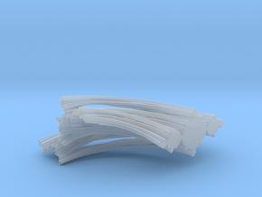 Quarter Unit Circle Julia Sets (0°, filled) in Smooth Fine Detail Plastic
