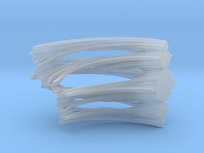 Quarter Unit Circle Julia Sets (90°, filled) in Smooth Fine Detail Plastic