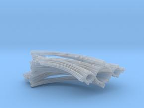 Quarter Unit Circle Julia Sets (0°, thick) in Smooth Fine Detail Plastic