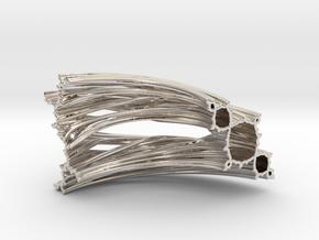Quarter Unit Circle Julia Sets (45°, thick) in Platinum