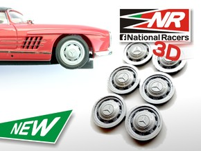 3D Wheel inserts - Mercedes 300 SL - 12,8mm in Frosted Ultra Detail