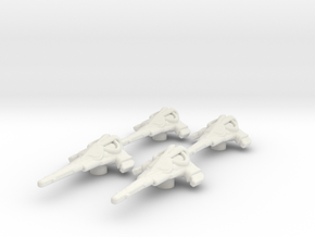 Wraith Dart set: 1/270 scale in White Natural Versatile Plastic