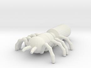 Giant Spider Pencil Flag in White Natural Versatile Plastic