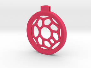 Surround ::: Circle Pendant ::: v.01 in Pink Strong & Flexible Polished