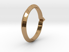 Shapesweeper Rectangular Basic Ring in Polished Brass: 5.5 / 50.25