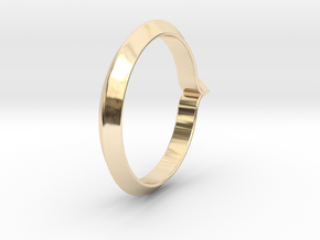 Shapesweeper Rectangular Basic Ring in 14k Gold Plated Brass: 5.5 / 50.25
