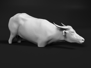 Domestic Asian Water Buffalo 1:35 To Deeper Water in White Natural Versatile Plastic
