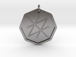 Seal of Saturn in Polished Nickel Steel