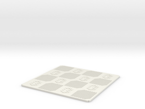 MiniChess board 4 x 4 in White Natural Versatile Plastic