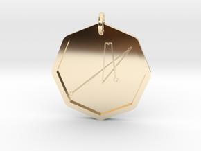 Tiriel Intelligence of Mercury in 14k Gold Plated Brass