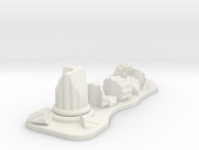 Ruined Column 28mm Scale Gaming Scatter Terrain in White Natural Versatile Plastic