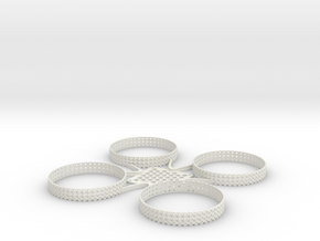 ST_drone_frame_v1_r6_top in White Natural Versatile Plastic