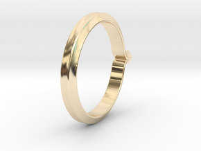 Shapesweeper Hexagonal Basic Ring in 14k Gold Plated Brass: 5.5 / 50.25