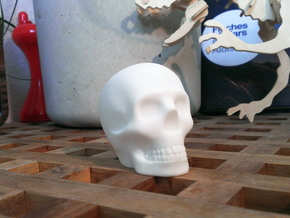 Skull in White Strong & Flexible Polished