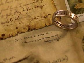 Sir Francis Drake Ring - Uncharted 1 + 2 Version in Polished Nickel Steel