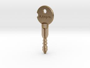 "Wynonna Earp ""Athena"" Key in Polished Gold Steel"