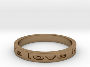 love is all you need Ring 8.25 in Natural Brass