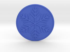 Snowflake Coaster in Blue Processed Versatile Plastic