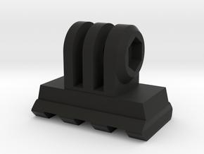 GoPro Mount for Picatinny Accessories (Side Tiltin in Black Natural Versatile Plastic