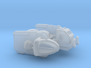 "Space Utility Frigate ""Lysosome"" (Cargo tug Class) in Smooth Fine Detail Plastic"