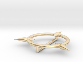 Little Witch Academia hat brooch in 14k Gold Plated Brass