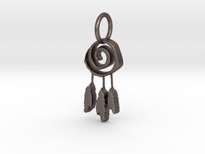 Spiralcatcher in Polished Bronzed Silver Steel