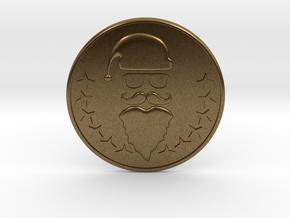 Santa Coaster in Natural Bronze