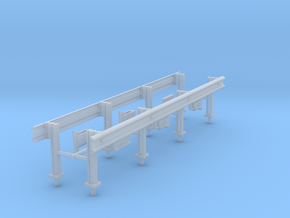 1/87th Set of two 20' Highway Guardrails in Smooth Fine Detail Plastic