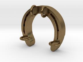 Horseshoe Charm 07 in Natural Bronze