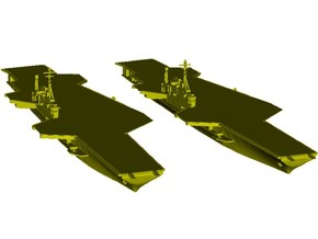 1/1800 scale USS Midway CV-41 aircraft carrier x 2 in Smooth Fine Detail Plastic