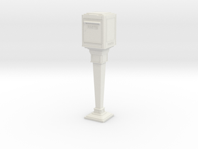 1/24 French Post Box / boîte postale n°1 in White Natural Versatile Plastic