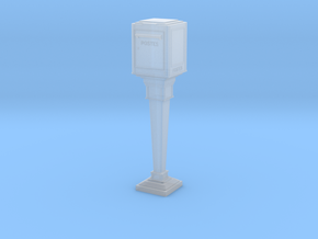 1/43 French Post Box / boîte postale n°1 in Smooth Fine Detail Plastic