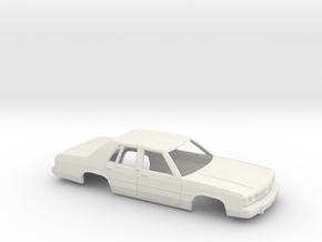 1/43 1989 Ford Crown Victoria Shell in White Natural Versatile Plastic