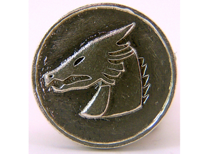 Pyre Coin Moon Silver in Natural Silver