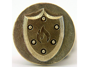 Pyre Coin Ember Bronze in Natural Brass