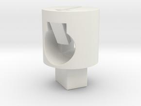 Tippmann M4 V1 Hop Up Nub - Enhanced flat in White Natural Versatile Plastic