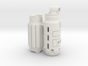 Fusion Cannon Mk.VI in White Natural Versatile Plastic