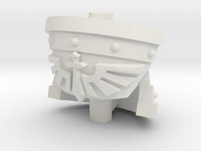 Tribune Heavy Shoulder Pad - Angel Sword set in Smooth Fine Detail Plastic: Small