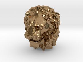 Lion Head in Natural Brass