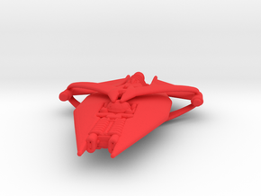 Gquan Heavy Cruiser Full Thrust Scale WSF in Red Processed Versatile Plastic