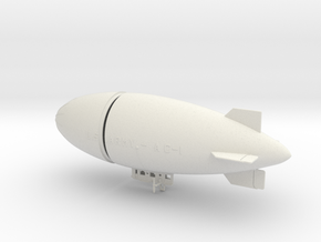 US Army AC-1  Airship in White Natural Versatile Plastic: 1:288