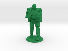 Super Soldier in Heavy Armor in Green Processed Versatile Plastic