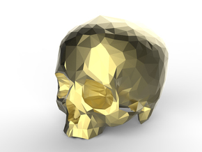 Skull  in Polished Nickel Steel