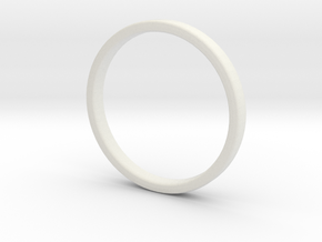 Simple wedding ring 2x1.1mm in White Natural Versatile Plastic: 5 / 49