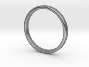 Simple wedding ring 2x1.1mm in Natural Silver: 5 / 49