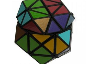 3x3x3 Rainbow Cube in White Natural Versatile Plastic