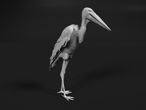 Marabou Stork 1:32 Standing in Smooth Fine Detail Plastic